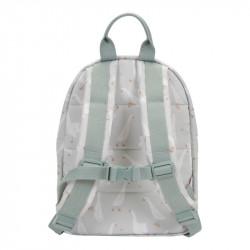 sac à dos enfant vert d'au motif oie.-detail
