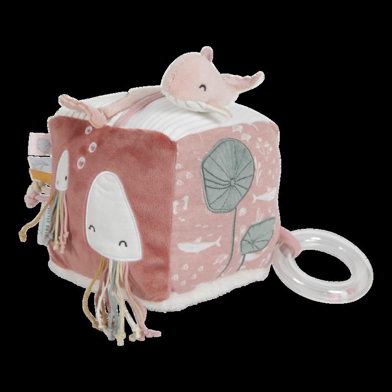 Cube en tissu d'activité Ocean pink Little Dutch