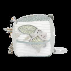 Cube en tissu d'éveil pour bébé thème marin-detail
