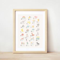 Affiche Alphabet enfant-detail