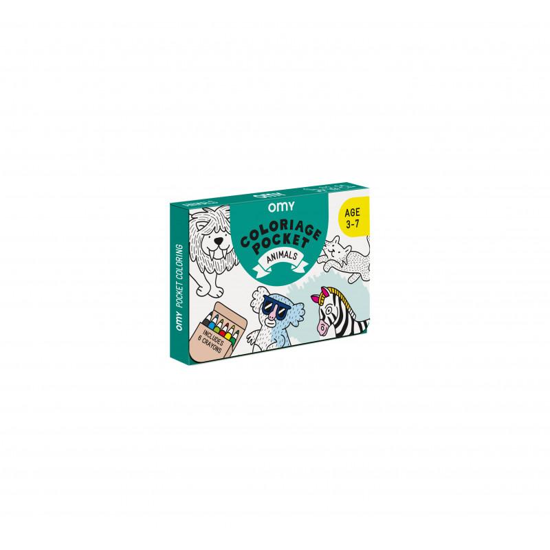 kit de coloriage animaux de chez omy