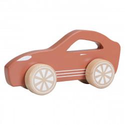 voiture en bois little Dutch couleur rouille-detail
