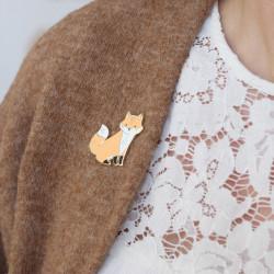 Pin's renard émaillé-detail