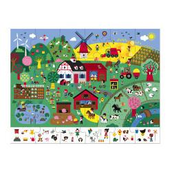 Puzzle animalier enfants Janod-detail