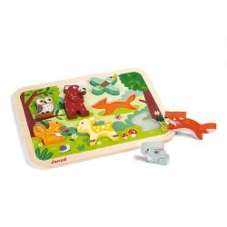 Petit puzzle en bois animaux Janod-detail