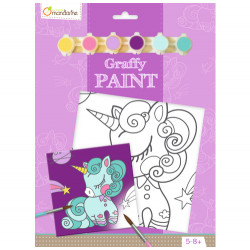 Toile à peindre licorne Avenue Mandarine-detail