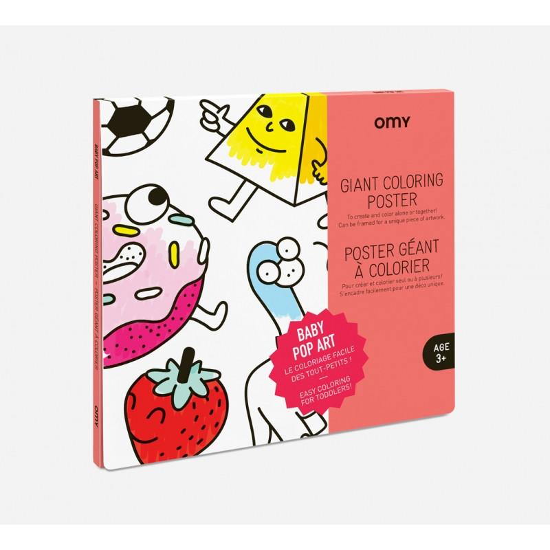 Poster géant à colorier baby pop art OMY
