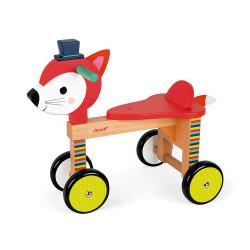 Porteur renard sur roue baby forest-detail