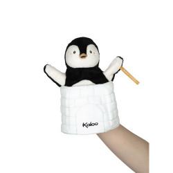 Marionnette cache-cache pingouin Gabin de la marque Kaloo-detail