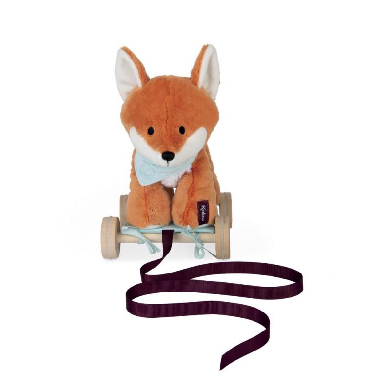 Peluche renard paprika à trainer Kaloo