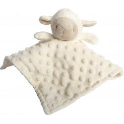 doudou mouton blanc brodé-detail
