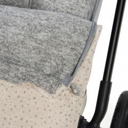 Couverture poussette bébé hiver-detail