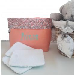 lingettes lavables et pochons fait main-detail